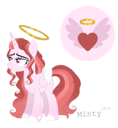 Size: 540x582 | Tagged: alicorn, artist:mintoria, female, halo, mare, oc, pony, safe, simple background, solo, transparent background