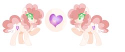 Size: 1102x460 | Tagged: artist:xxcutecookieswirlsxx, chest fluff, earth pony, female, mare, oc, oc:candy smoothie, offspring, parent:cheese sandwich, parent:pinkie pie, parents:cheesepie, pony, reference sheet, safe, simple background, solo, transparent background