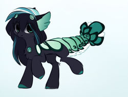 Size: 1024x782   Tagged: safe, artist:php146, oc, oc:naomi, original species, suisei pony, closed species, eye clipping through hair, lobster tail, male, solo