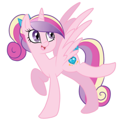 Size: 1280x1271 | Tagged: safe, artist:bunbubs, princess cadance, alicorn, pony, bow, cute, cutedance, female, filly, filly cadance, hair bow, mare, open mouth, ponytail, simple background, solo, tail bow, teen princess cadance, transparent background, young, younger