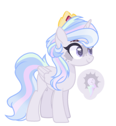 Size: 1046x1143   Tagged: safe, artist:antiwalkercassie, oc, alicorn, pony, female, magical lesbian spawn, mare, offspring, parent:princess celestia, parent:rainbow dash, parents:dashlestia, simple background, solo, transparent background