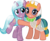 Size: 5014x4075 | Tagged: absurd res, artist:jhayarr23, clothes, crystal pony, cute, duo, duo female, eyeliner, eyeshadow, female, friendshipping, glowpaz, hopabetes, hope, hug, idw, idw showified, looking at you, makeup, mare, pegasus, pony, radiant hope, safe, see-through, show accurate, simple background, smiling, somnambetes, somnambula, sweet dreams fuel, transparent background, unicorn, vector