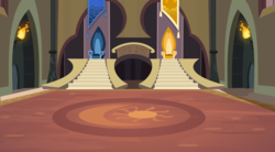 Size: 9075x5000   Tagged: safe, artist:aeonkrow, absurd resolution, background, castle, castle of the royal pony sisters, no pony, scenery, this nearly broke me, throne, throne room, vector