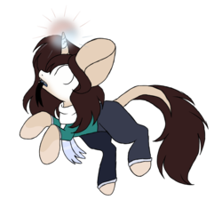 Size: 944x882 | Tagged: artist:mintoria, female, glowing eyes, mare, oc, oc:herobrine, pony, safe, simple background, solo, transparent background, unicorn