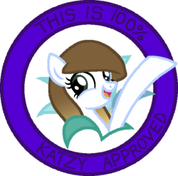Size: 553x547 | Tagged: safe, artist:1mbean, oc, oc:katzy, pony, art studio, female, seal of approval, simple background, solo, transparent background