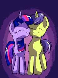 Size: 1476x2000 | Tagged: safe, artist:andromedasparkz, comet tail, twilight sparkle, alicorn, pony, cometlight, female, male, shipping, straight, twilight sparkle (alicorn)