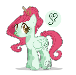 Size: 1096x1080 | Tagged: safe, artist:6-fingers-lover, oc, oc:poison ivy, pegasus, pony, female, magical lesbian spawn, mare, nose piercing, offspring, parent:doctor fauna, parent:fluttershy, parents:faunashy, piercing, simple background, solo, transparent background