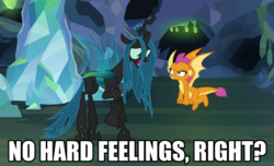 Size: 933x567 | Tagged: safe, edit, edited screencap, screencap, ocellus, queen chrysalis, smolder, changedling, changeling, changeling queen, pony, what lies beneath, adorkable, angry, anxiety, awkward, bad poker face, caption, cropped, cute, cutealis, dialogue, diaocelles, disguise, disguised changeling, dork, dorkalis, duo, faic, fangs, fear, female, flying, frown, giggling, image macro, imminent death, implied chrysalis, intimidating, laughing, mare, menacing, nervous, nervous grin, nervous laugh, nightmare cave, open mouth, raised hoof, scared, shrunken pupils, silly, silly pony, size difference, smiling, smolder is not amused, spread wings, standing, text, the implications are horrible, this will end in death, this will end in pain, this will end in tears, this will end in tears and/or death, what if, wide eyes, wings, worried