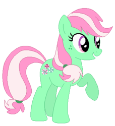 Size: 381x417 | Tagged: artist:bc-ls, artist:durpy, artist:selenaede, g3, g3 to g4, generation leap, minty, pony, safe, simple background, solo, spoiler:interseason shorts, sundae sundae sundae, transparent background