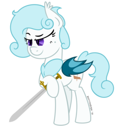 Size: 4688x4688 | Tagged: absurd res, artist:besttubahorse, bat pony, bat pony oc, beauty mark, oc, safe, simple background, smiling, smirk, sword, transparent background, unobtrusive watermark, vector, weapon