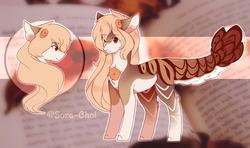 Size: 2800x1660   Tagged: safe, artist:sora-choi, oc, oc:mae, original species, suisei pony, closed species, female, solo