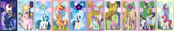 Size: 4525x820 | Tagged: alicorn, alicornified, alternate universe, artist:lucymarie2000, base used, equestria girls ponified, indigo zap, lemon zest, moondancer, pink-mane celestia, ponified, pony, princess celestia, princess luna, queen chrysalis, race swap, safe, shadow five, shimmercorn, sour sweet, sugarcoat, sunny flare, sunset shimmer