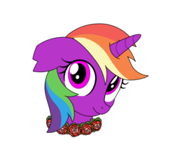 Size: 1000x949 | Tagged: safe, artist:linedraweer, oc, oc only, oc:crystal fury, pony, commission, floral head wreath, flower, headcanon, solo, vector, wreath