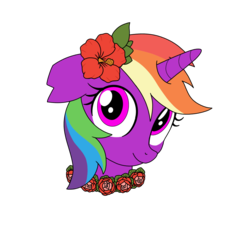 Size: 1000x949 | Tagged: safe, artist:linedraweer, oc, oc only, oc:crystal fury, pony, commission, floral head wreath, flower, flower in hair, headcanon, solo, vector, wreath