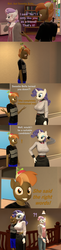 Size: 1580x6480 | Tagged: safe, artist:papadragon69, button mash, rarity, sweetie belle, anthro, 3d, breasts, busty rarity, clothes, comic, female, friendzone, male, old master q, parody, rarimash, reference, shipping, source filmmaker, straight