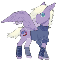 Size: 835x896 | Tagged: artist:amphoera, clothes, cutie mark, oc, oc:gale force, pegasus, pony, safe, simple background, solo, spread wings, white background, wings