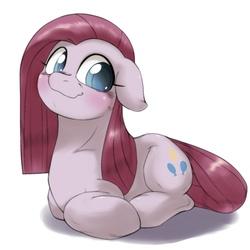 Size: 1536x1536   Tagged: safe, artist:kurogewapony, pinkie pie, earth pony, pony, blushing, cute, cuteamena, female, mare, pinkamena diane pie, ponyloaf, solo