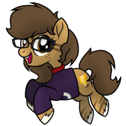 Size: 1000x1000 | Tagged: artist:toyminator900, body markings, clothes, earth pony, female, freckles, glasses, hoodie, hybrid, mare, nerd, oc, oc:binky, oc only, pony, ponytail, rayman, safe, scrunchie, simple background, solo, transparent background, unshorn fetlocks, zony