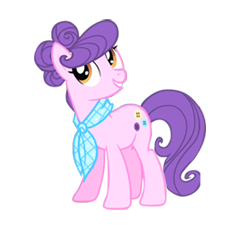 Size: 230x230 | Tagged: artist:mysteriousshine, clothes, earth pony, female, mare, pony, safe, scarf, simple background, smiling, solo, suri polomare, transparent background