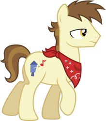 Size: 5251x6000 | Tagged: safe, artist:chainchomp2, steamer, earth pony, pony, flight to the finish, absurd resolution, background pony, bandana, male, neckerchief, raised hoof, simple background, solo, stallion, transparent background, vector