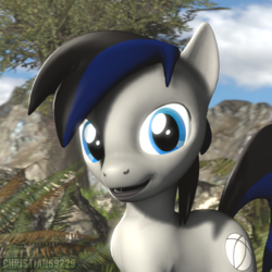 Size: 1000x1000 | Tagged: 3d, artist:christian69229, bust, earth pony, looking at you, male, oc, oc only, oc:tero, pony, portrait, safe, solo, source filmmaker, stallion