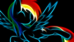 Size: 1920x1080   Tagged: safe, artist:jaybud4, artist:up1ter, edit, rainbow dash, pegasus, pony, black background, cutie mark, eyes closed, female, hooves, lineart, mare, simple background, solo, spread wings, wallpaper, wallpaper edit, wings