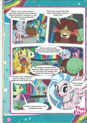 Size: 1654x2339 | Tagged: comic, friendship student, gallus, huckleberry, magazine scan, ocellus, safe, sandbar, silverstream, smolder, student six, underwater memories, yona