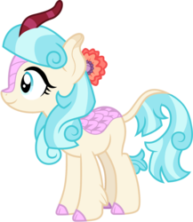 Size: 1301x1500 | Tagged: artist:cloudyglow, cloven hooves, coco pommel, colored hooves, cute, female, kirin, kirin-ified, rarity takes manehattan, safe, solo, species swap, vector