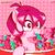 Size: 1024x1024 | Tagged: safe, artist:branewashpv, oc, oc:pink ghost, pegasus, pony, art trade, bowl, cute, eating, female, food, gummy bears, hidden wings, ocbetes, pegasus oc, pixel art