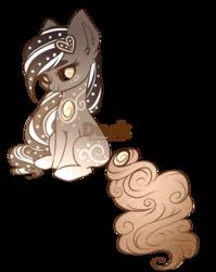 Size: 625x785 | Tagged: safe, artist:du-sk, oc, oc:gingerbread, original species, pony, solutai pony, female, mare, ponty, simple background, solo, transparent background