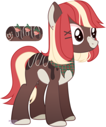 Size: 3367x4037 | Tagged: safe, artist:rerorir, oc, chocolate pony, food pony, original species, pony, female, food, mare, ponified, simple background, solo, transparent background