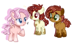 Size: 1722x1026 | Tagged: artist:jxst-alexa, female, filly, magical lesbian spawn, oc, oc only, offspring, parent:apple bloom, parent:babs seed, parent:diamond tiara, parent:pipsqueak, parents:babsqueak, parent:scootaloo, parents:pipbloom, parents:scootiara, pony, safe, simple background, transparent background