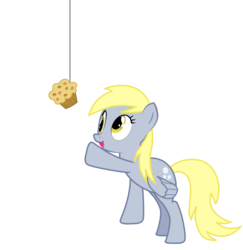 Size: 2097x2161 | Tagged: safe, artist:sciencesean, derpy hooves, pegasus, pony, bait, cute, derpabetes, derpy day, derpy day 2019, eyes on the prize, female, food, happy, looking up, mare, muffin, open mouth, reaching, simple background, smiling, solo, string, transparent background, vector