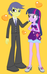 Size: 394x618 | Tagged: safe, artist:3d4d, comet tail, twilight sparkle, equestria girls, cometlight, equestria girls-ified, female, male, shipping, straight