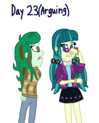 Size: 1500x1865 | Tagged: artist:ktd1993, equestria girls, female, juniblush, juniper montage, lesbian, safe, shipping, wallflower blush