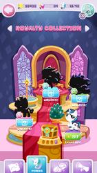 Size: 720x1280 | Tagged: safe, ocellus, princess cadance, princess celestia, princess luna, shining armor, my little pocket ponies, game screencap, pocket ponies, silhouette