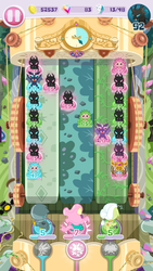 Size: 720x1280 | Tagged: safe, fluttershy, gabby, granny smith, saddle rager, changeling, pukwudgie, vampire fruit bat, game screencap, pocket ponies, power ponies