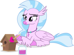 Size: 3000x2230 | Tagged: artist:jp, bird house, brush, derpibooru exclusive, paint, safe, silverstream, simple background, solo, spoiler:interseason shorts, svg, .svg available, teacher of the month (episode), transparent background, vector