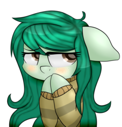 Size: 776x808   Tagged: safe, artist:zeroponycreations, wallflower blush, pony, equestria girls, equestria girls series, forgotten friendship, blushing, clothes, cute, equestria girls ponified, eye clipping through hair, female, floppy ears, flowerbetes, mare, ponified, simple background, solo, sweater, transparent background