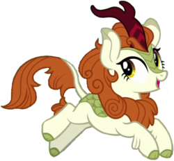 Size: 2048x1900   Tagged: safe, edit, edited screencap, editor:php77, screencap, autumn blaze, kirin, sounds of silence, awwtumn blaze, background removed, bad edit, cloven hooves, cute, female, not a vector, simple background, singing, smiling, solo, transparent background