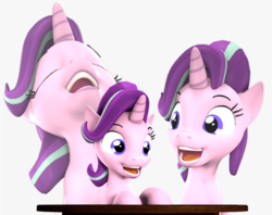 Size: 4088x3243 | Tagged: 3d, artist:flushthebatsanta, eyes closed, female, laughing, laughing tom cruise, mare, meme, open mouth, pony, safe, source filmmaker, starlight glimmer, unicorn