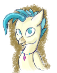 Size: 1800x2296 | Tagged: artist:qbellas, bust, hippogriff, male, no pupils, safe, solo, surf and/or turf, terrabetes, terramar