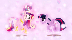 Size: 1600x900 | Tagged: alicorn, and do a little shake, artist:cloudyglow, artist:sailortrekkie92, clap your hooves, cute, cutedance, dancing, edit, female, filly, flurrybetes, ladybugs-awake, mare, pony, pony hat, princess cadance, princess flurry heart, safe, sunshine sunshine, twiabetes, twilight sparkle, twilight sparkle (alicorn), wallpaper, wallpaper edit