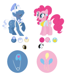 Size: 853x971 | Tagged: apron, artist:jewelmusic, base used, clothes, hat, pinkie pie, pokeypie, pokey pierce, pony, safe, shipping, simple background, straight, transparent background