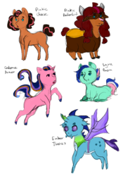 Size: 1400x2000 | Tagged: artist:blazing-blender, hybrid, interspecies offspring, magical lesbian spawn, oc, oc:beata, oc:rusty shackleford, offspring, parent:bon bon, parent:cheese sandwich, parent:lyra heartstrings, parent:pinkie pie, parent:prince rutherford, parent:princess cadance, parent:princess ember, parents:cheesepie, parents:embrax, parent:shining armor, parents:lyrabon, parents:pinkieford, parents:shiningcadance, parent:thorax, safe, yakony