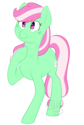 Size: 1140x1700 | Tagged: artist:firepetalfox, cute, earth pony, mintabetes, minty, safe, simple background, transparent background