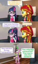 Size: 1920x3240   Tagged: safe, artist:red4567, sci-twi, spike, spike the regular dog, sunset shimmer, twilight sparkle, dog, best in show: the pre-show, equestria girls, equestria girls series, spoiler:eqg series (season 2), balancing, ball, juggling, plate