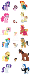 Size: 1280x3040 | Tagged: safe, artist:xxmidnightmuffinxx, applejack, big macintosh, donut joe, fancypants, fluttershy, pinkie pie, quibble pants, rainbow dash, rarity, sunburst, trouble shoes, twilight sparkle, oc, oc:amber apple, oc:hawk feather, oc:lil lucky, oc:solar star, oc:sugar cookie, alicorn, pony, apron, baby, badge, base used, clothes, deviantart watermark, engagement ring, families, female, fluttermac, hair bun, hair up, male, necktie, next generation, obtrusive watermark, offspring, older, parent:applejack, parent:big macintosh, parent:donut joe, parent:fluttershy, parent:pinkie pie, parent:quibble pants, parent:rainbow dash, parent:sunburst, parent:troubleshoes clyde, parent:twilight sparkle, parents:fluttermac, parents:pinkiejoe, parents:quibbledash, parents:troublejack, parents:twiburst, pinkiejoe, quibbledash, raripants, ring box, shipping, shirt, straight, tools, troublejack, twiburst, twilight sparkle (alicorn), uniform, watermark, wonderbolts dress uniform