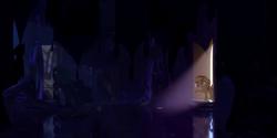 Size: 1280x640   Tagged: safe, artist:minty root, princess celestia, sunset shimmer, alicorn, gloom, pony, unicorn, the fall of sunset shimmer: animated film, door, female, mare, mirror, pokémon