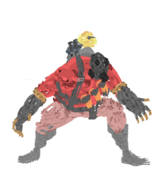 Size: 1051x1099 | Tagged: artist:memnoch, edit, pyro, safe, simple background, smolder, solo, team fortress 2, transparent background, vector, wat, what has science done, wtf
